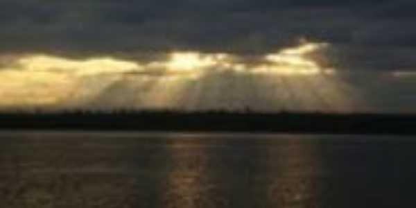 o por do sol em buritis do tocantins, Por Cassia Regina Da Silva